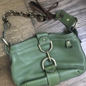 Jcrew Green Leather Handbag